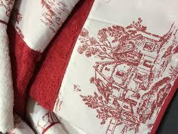 toile de jouy towels set