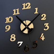 Home Decor Hours by Compare Prices On Wall Clock Gold Online Shopping Buy Low Price