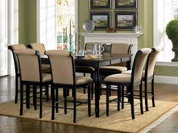 counter height dining room table sets coaster cabrillo counter height dining set black amaretto 101828