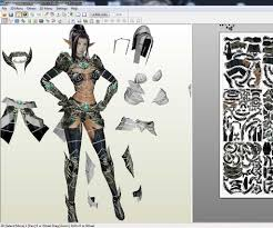 3d Fashion Design Software How To Make Paper Craft From A Game Or 3d Model 5 Steps