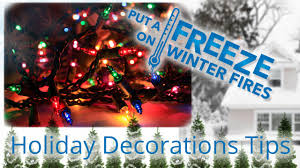 fire safety tips for holiday decorating youtube