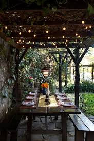 patio light strings classic outdoor dining room area with black