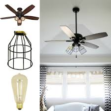 industrial cage light bulb cover diy cage light ceiling fan a hanging light home diy on cut out