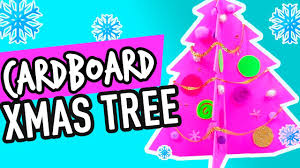 mini christmas tree with cardboard easy tutorial for kids