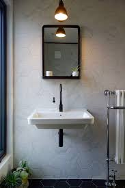 bathroom yellow rectangle resin mirrors with shelves modern