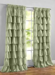 Shabby Chic Voile Curtains by Ruffled Layered Curtains Ruffles Rod Pocket And Window