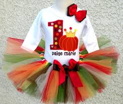pumpkin princess fall thanksgiving tutu for baby