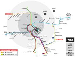Portland Light Rail Map by New Light Rail Line Opens In Denver The Antiplanner