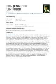 Summary Examples For Resume by Optometrist Resume Samples Visualcv Resume Samples Database