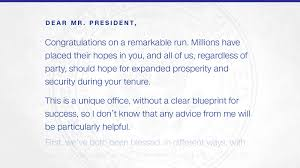 What Floor Is The Oval Office On Read The Inauguration Day Letter Obama Left For Trump Cnnpolitics
