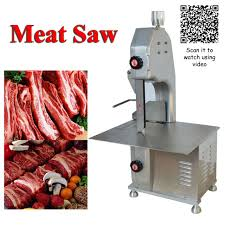 table top meat slicer kitchen restaurant chopper meat band saw 110v electric table top