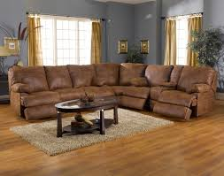L Shaped Coffee Table L Shaped Light Brown Leather Reclining Sectional With Oval Coffee