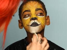 simple lion face painting