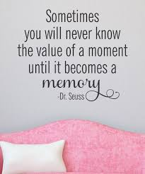 how nice sometimes you will never know the value of a moment this value of a moment wall quotes decal is perfect