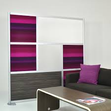 6 u0027 modern room divider white ebony wood laminate and purple