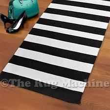 Thin Runner Rug Black And White Striped Runner Rug Roselawnlutheran