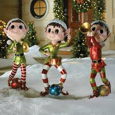 christmas outdoor decor set of three pixie elves frontgate outdoor christmas