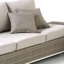 coussin d assise canapé salon 5 places en résine tressée ronde oria