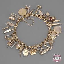antique charm bracelet images Vintage bracelets bangles vintage rose gold charm bracelet jpg