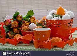 easter pail orange easter pail stock photo royalty free image 50175331 alamy