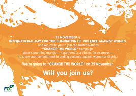 orange color as the symbol of a better future for women and girls