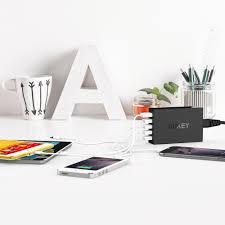 Charging Shelf Aliexpress Com Buy Aukey Quick Charge 3 0 5 Ports Desktop