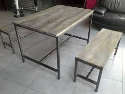 table cuisine banc meuble industriel table de salle manger avec rallonge of meuble