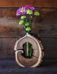 wood log vases rustic hollow log vase black walnut wood home by therusticnature