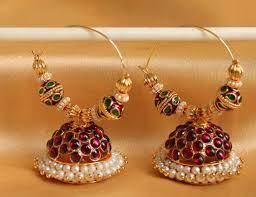 designer earrings buy gorgeous hoop temple designer earrings dj04304 online