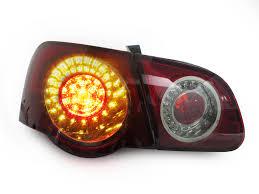 2011 vw cc led tail lights 2006 2011 vw passat b6 4d sedan depo cherry red smoke led rear