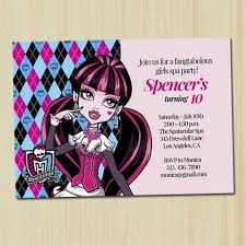 monster high birthday invitations afoodaffair me