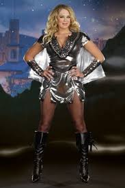 Silver Halloween Costume Size Silver Metallic Metal Maiden Halloween Costume