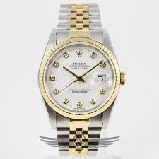 rolex bracelet diamonds images Rolex datejust 36mm steel and yellow gold jubilee bracelet diamond jpg