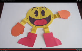 color paper how to make pac man color paper tutorial lana3lw youtube
