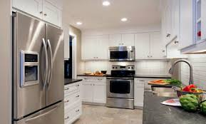 white kitchen cabinets with grey countertops style for ideal