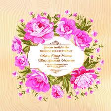 free invitation cards design frame wedding card border pink flower frame wedding