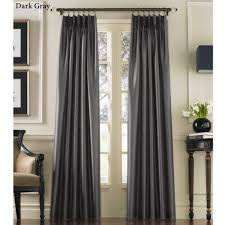 108 Drapery Panels Marquee Flared Faux Silk Pinch Pleat Curtain Panels