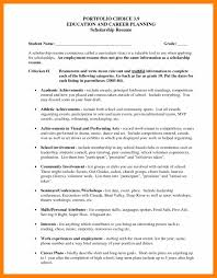 Scholarship Resume Samples by Scholarship Resume Examples Resume For Your Job Application