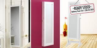 floor length mirror cabinet ready stock 3 in 1 modern full length mirror jewellery cabinet with