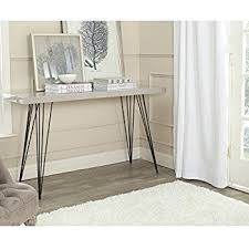 Black Console Table with Amazon Com Safavieh Home Collection Kayson Grey Console Table