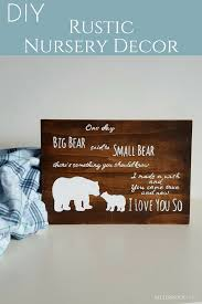 Rustic Nursery Decor Diy Wood Nursery Decor Bitterroot Diy