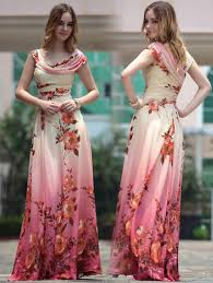elegant floral silk maxi gown buy pepper dresses online in india