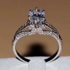 vintage rings aliexpress images Vintage women ring 925 sterling silver princess cut 2ct gem aaaaa jpg