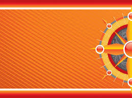 Orange Powerpoint Background Compass On Orange Powerpoint Templates Tema Untuk Ppt