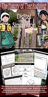 pilgrims and thanksgiving history the history of thanksgiving digital simulation tpt social