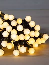 buy 100 led battery operated berry lights warm white from