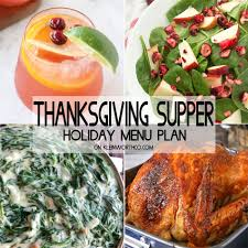 thanksgiving supper menu plan kleinworth co