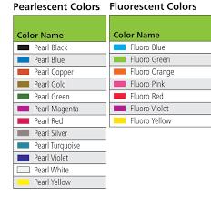 chromatemp artists u0027 tempera pearlescent u0026 fluorescent color chart