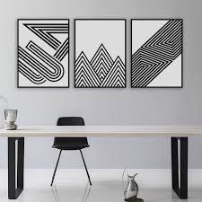 black white modern minimalist geometric shape a4 art prints poster