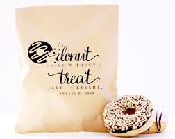 personalized donut boxes donut bags etsy